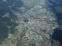 08_18430 09.09.2008 Luftbild Alpendurchquerung Innsbruck