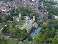 14k2_10133 Luftbild Warwick Castle