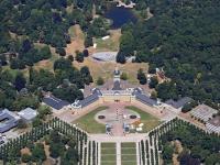 15k2_9870 10.07.2015 Luftbild Schloss Karlsruhe Draisinenrennen