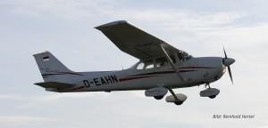 Luftbild Cessna beim Start