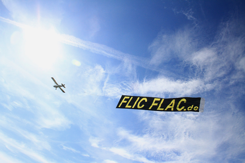 Fotoflug.de fliegt das FlicFlac Banner