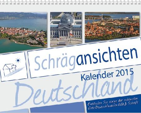 """Die Marke für unsere Kalender Mit unserer neuen Marke """"Schrägansichten"""" präsentieren wir spannende Bilder und interessante Orte aus der Luft in Form von Kalendern."""