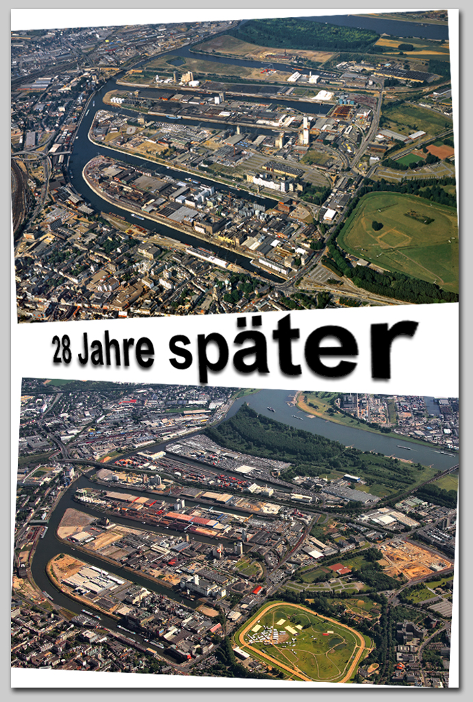 Neuss Hafen (1986 und 2014)
