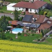 Privathaus im Luftbild