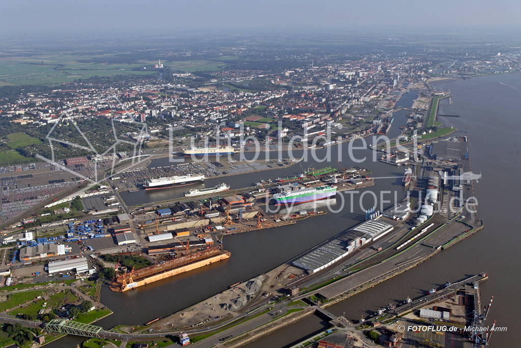 Luftbild Bremerhaven 31.08.2005