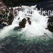Luftbild Schaffhausener Rheinfall