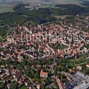 Schrägansicht Rothenburg ob der Tauber