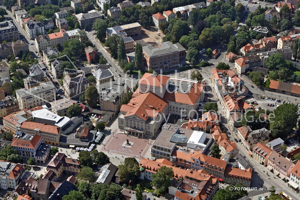 Luftbild Weimar Nationaltheater