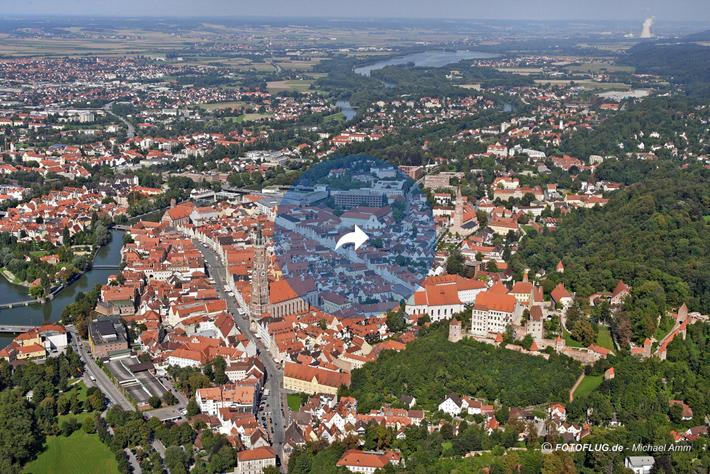 Luftbilder von Landshut