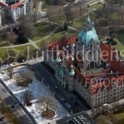 Luftbild Hannover neues Rathaus