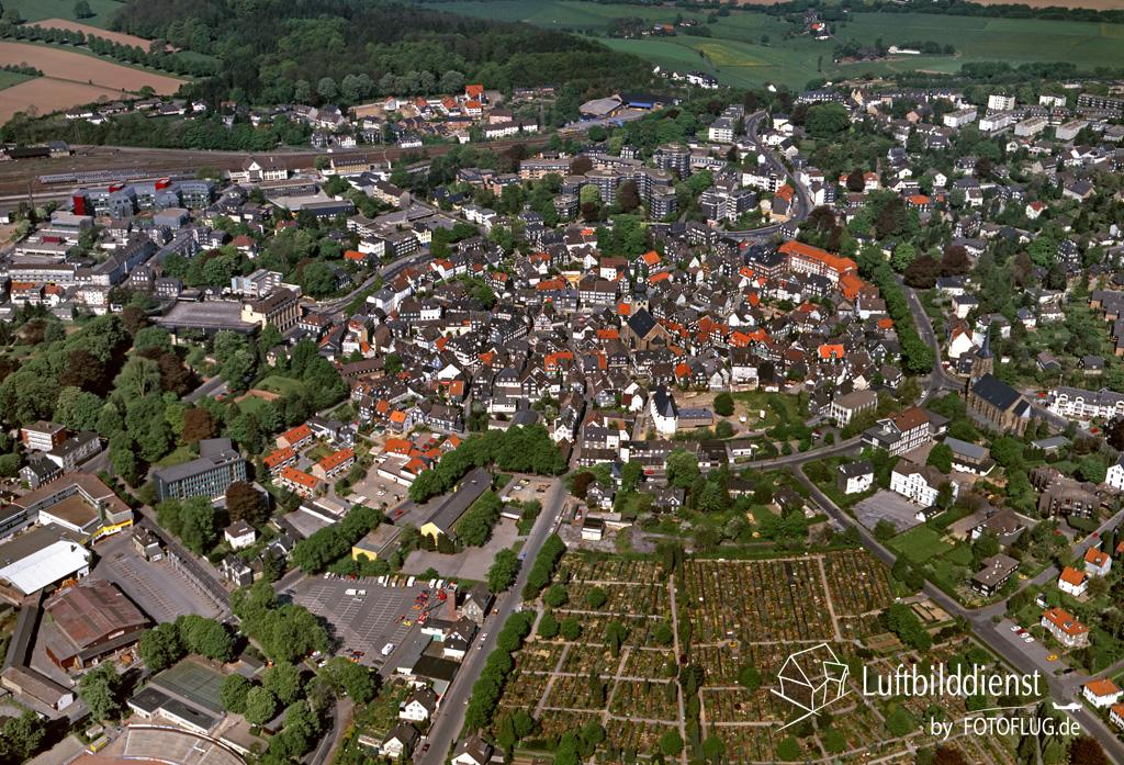 historisches Luftbild von Lennep