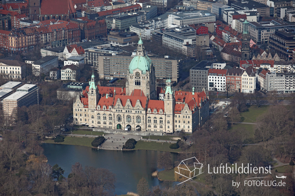 Neues Rathaus Hannover im Luftbild