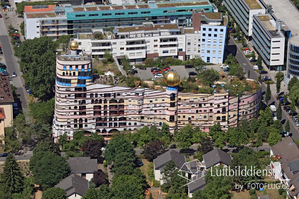 2015_07_10 Luftbild Hundertwasserhaus Darmstadt 15k2_9091