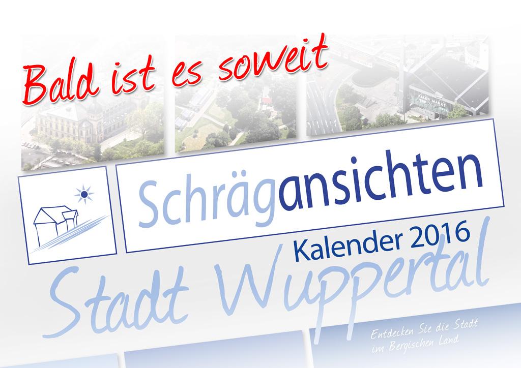 Luftbild Kalender Schrägansichten Wuppertal 2016