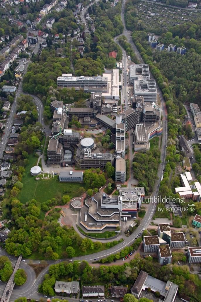 Luftbild Wuppertal Universität 2015