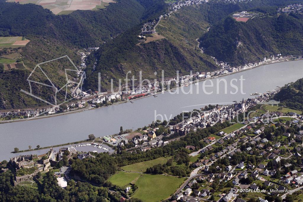 Luftbild St. Goar, Rheinland Pfalz