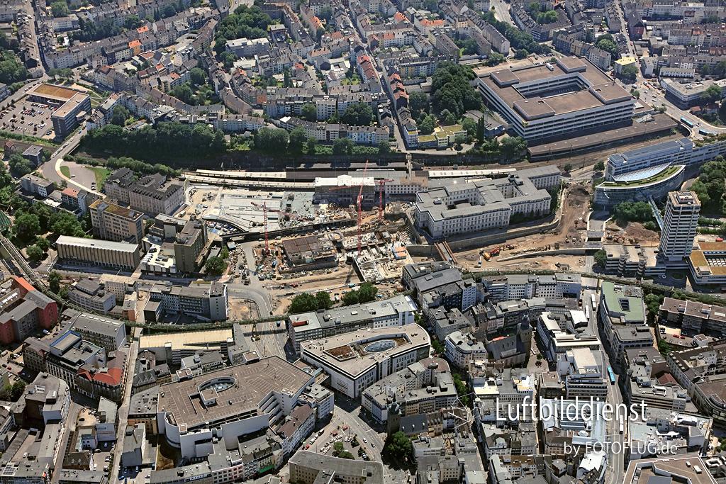 2016_07_19 Luftbild Wuppertal Baustelle Bahnhof 16k3_5299